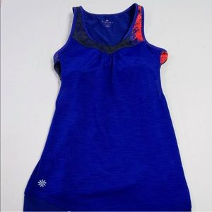 Athleta Purple Cross Fit Mesh Tank Top Sz XXS DD30